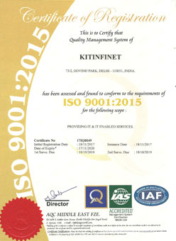 ISO 19001 Certificate